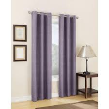 Sun Zero Semi Opaque Plum Tom Thermal Lined Curtain Panel 40 in