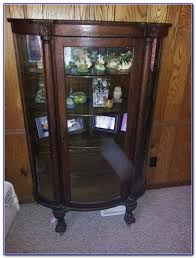 photo gallery of curved glass curio cabinet replacement viewing 5