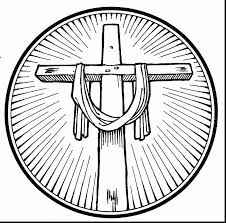 Magnificent Easter Cross Coloring Pages With Religious And