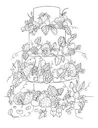 Free Coloring Page Big Fruit Cake By Olivier A To Color