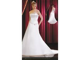 eden bridals 5035 ivory with rum pink trim 124 size 12 sample