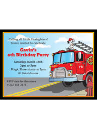 100 Fire Truck Birthday Party Personalized Invitation Cheap Personalized