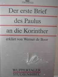 Zweiter Korinther Brief 1u201c Erich Schnepel Buch Antiquarisch
