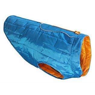 Kurgo Loft Dog Coat - Small, Blue and Orange