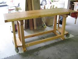 Wooden Work Bench On Wheels Woodproject