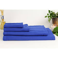 deluxe bath set royal blue sento towel touch of modern