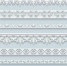 Paper Lace Borders Vector