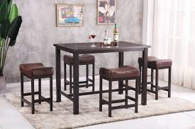 Rustic Espresso Brown Pub Set | My Furniture Place