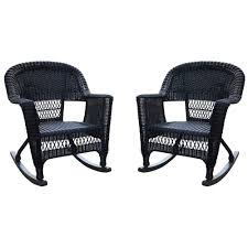 Amazon.com: Jeco W00207R-D_2 Set Of 2 Wicker Rocker Chairs Black ... Wicker Rocking Chair Grey At Home Windsor Black Rocker And End Table Set With Patio Resin Steel Frame Outdoor Porch Noble House Harmony With White 3pc Cushion Good Looking Glider Big Plans Sw Chairs Lounge Dark Brown Amazoncom Cloud Mountain 3 Piece Bistro Decorating Rockers Gliders Coral Coast Casco Bay