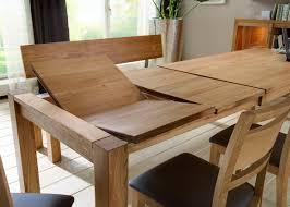 essgruppe tisch mit auszug stühle lederbezug esszimmer eiche