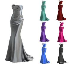 2016 in stock mermaid bridesmaid dresses cheap burgundy silver