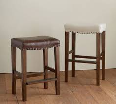 Amazing Backless Bar Stools Pottery Barn 40 About Remodel Small