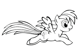 My Little Pony Coloring Pages Rainbow Dash Applejack And Enchanting