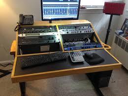 Diy Studio Desk Plans Decoration Ideas Home Studio Workstation