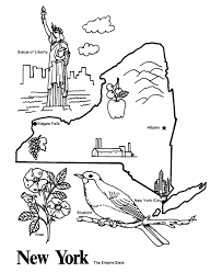 New York State Outline Coloring Page