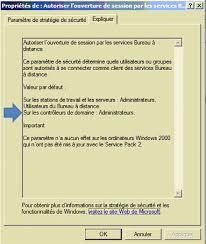 autoriser bureau a distance capi ears rdp remote desktop protocol