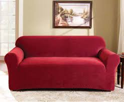 Best Fabric For Sofa Cover by Best Price Linen Red 2 Seater Couch Cover By Surefit Couch Covers