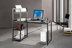 office table glass top computer desk nz glass corner computer