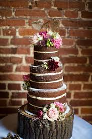 Chocolate Wedding Cake Inspiration Naked Roses Fall Rustic
