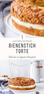 bienenstich torte in kranzform klassisch mit hefeteig