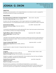 Sample Resume For Restorative Nursing Assistant Beautiful Job Cna Templates Samples With