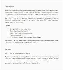 Resume Template High School Senior Student Examples For College Other Od Resumes