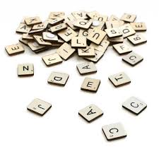 Wooden Letter Tiles 114 Pieces Hobbycraft