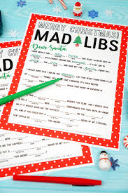 Halloween Mad Libs Pdf by Christmas Mad Libs Printable Happiness Is Homemade