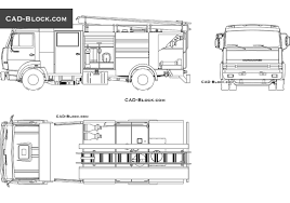 100 Free Truck Fire CAD Block AutoCAD Drawing Free Download