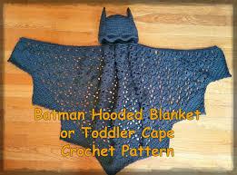 Long Halloween Batman Pdf by Batman Hooded Blanket Or Toddler Cape Crochet Pattern Pdf