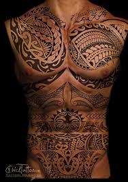 Amazing Torso Tribal Tattoo