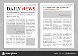 Newspaper Template Design A Mockup Of Layout For Business Promotional News Typographic Print Vector Flat Style Cartoon Illustration