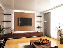 2 Wooden Panel Wall Minimalis Modern Living Room