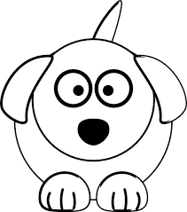 This Coloring Page For Kids Features A Front On Picture Of Cute Dog With Long