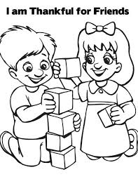 Friendship I Am Thankful For Friends On Day Coloring Page