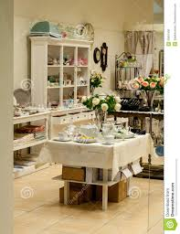 Home Interiors Shop Home Decor And Dishes Shop Stock Photo Image Of Arrangement