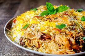biryani indian cuisine easy hyderabadi chicken biryani the delicious crescent