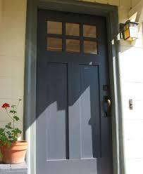 Navy Blue Front Door Porch San Francisco by Green Plum