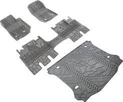 Jeep Jk Rugged Ridge Floor Liners by Mopar Floor Liner Slush Mat With Tire Tread Pattern Kit For 14 16