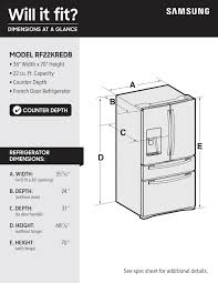 Counter Depth Refrigerator Width 30 by Samsung Showcase 22 4 Cu Ft 4 Door Flex French Door Counter