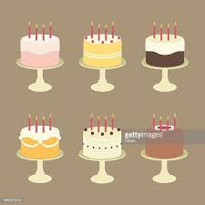 Cute Birthday Cakes with Candles on Cake Stands