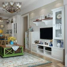 Custom Design Wooden Furniture Living Room Lcd Showcase