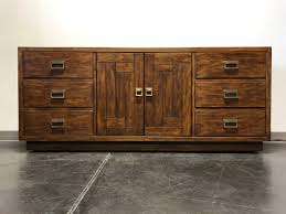 Drexel Heritage Dresser Mirror drexel heritage woodbriar pecan campaign style dresser credenza