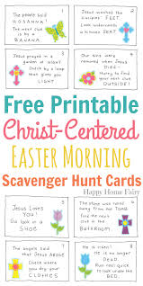 Halloween Scavenger Hunt Clue Cards by Christ Centered Easter Morning Scavenger Hunt For Preschoolers