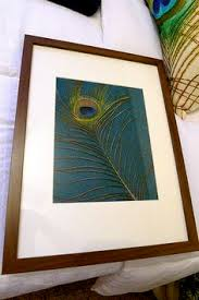 Framed Peacock Feather So Many Ideas For This