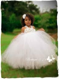 white flower girl dress white tutu dress baptism tutu dress
