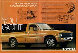Old Toyota Truck Ads - Chin On The Tank – Motorcycle Stuff In ... Toyota Tacoma 4x4 For Sale 2019 20 Top Car Models Twelve Trucks Every Truck Guy Needs To Own In Their Lifetime 1979 Truck Youtube 4x4 Truckss Old The 2017 Trd Pro Is Bro We All Need For Greenville 2018 And Tundra 20 Years Of The Beyond A Look Through Ebay 1992 Toyota 1 Ton Stake Bed Dually W Lift Gate Pickup War Chariot Third World What Ever Happened To Affordable Feature 450 Obo 1978 Hilux These Are Most Popular Cars Trucks In Every State