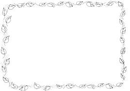 Leaf Border Black And White Clipart 1
