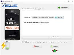How to use Asus ZenFone Flash Tool to install stock ROM on Asus
