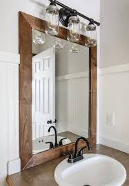 20 Framed Bathroom Mirror Ideas For Double Vanity & Single Sink With ... Mirror Ideas For Bathroom Double L Shaped Brown Finish Mahogany Rustic Framed Intended Remodel Unbelievably Lighting White Bath Oval Mirrors Best And Elegant Selections For 12 Designs Every Taste J Birdny Luxury Reflexcal Makeover Framing A Adding Storage Youtube Decorative Trim Creative Decoration Fresh 60 Unique